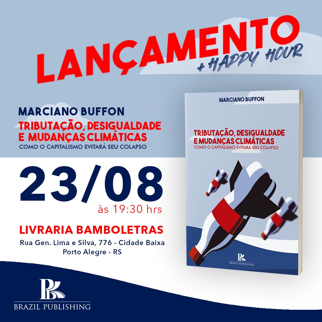 Cartaz de lançamento do livro do Buffon